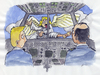 Cartoon: Angel-Air (small) by bertgronewold tagged flugzeug,engel,pilot,unfall,scheibe