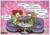 Cartoon: Blind Dates (small) by karicartoons tagged alien,alpha,centauri,außerirdischer,blind,date,dating,entführen,entführungen,flirt,grünes,männchen,marsmännchen,sekt,treffen,ufo