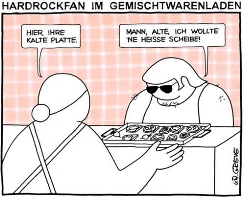 Cartoon: Gemischtwarenladen (medium) by ka greve tagged waren,laden,platte,rock