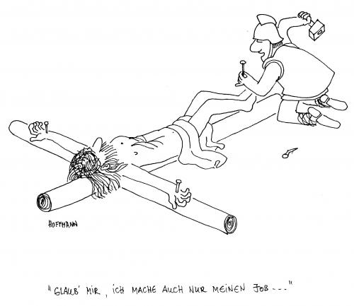 Cartoon: Kreuzigung (medium) by Frank Hoffmann tagged no,tag,