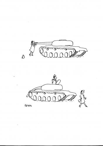 Cartoon: Make love not war (medium) by Frank Hoffmann tagged no,tag,