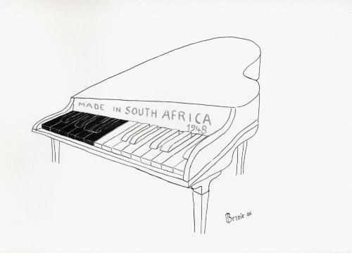 Cartoon: apartheid souvenir (medium) by bernie tagged apartheid,racism,africa