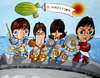 Cartoon: BEATLES (small) by LAZ tagged beatles