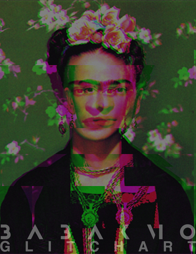 Cartoon: Glitch Art (medium) by Babak Mo tagged photo,artist,mo,kunstler,kunst,kahlo,frida,babak,babakmo,art,glitch