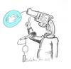 Cartoon: No comment (small) by Babak Mo tagged babakmohammadi,cartoon,karikature