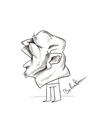 Cartoon: Scream (small) by Babak Mo tagged cartoons,babakm,karikature