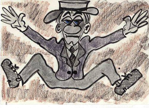 Cartoon: Buster Keatons Cousin (medium) by Marcello tagged buster,keaton