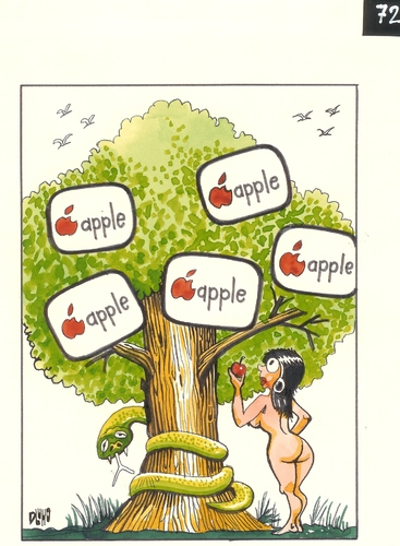 Cartoon: Eden-  tree of knowledge (medium) by Dluho tagged eden