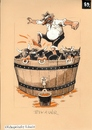 Cartoon: Bikaver wine (small) by Dluho tagged wine,harvest