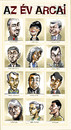 Cartoon: Faces of the Year 2004 (small) by Dluho tagged know,people