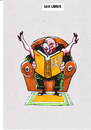 Cartoon: Sex libris (small) by Dluho tagged ex,libris