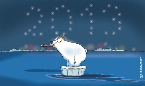 Cartoon: Eisbär (medium) by Dodenhoff Cartoons tagged klima,nordpol,arktis,silvester,polar,eisbären,umwelt