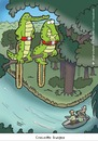 Cartoon: crocodile bungee (small) by Dodenhoff Cartoons tagged nature,crocodile,hunter