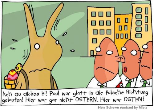 Cartoon: Ostern _Herr Schewe Remix_ (medium) by Mietz tagged easter,osten,nazi,ostern,hase,