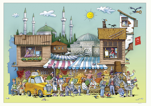 Cartoon: Ankara (medium) by kurtu tagged ankara,ankara