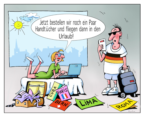 Cartoon: Urlaub (medium) by kurtu tagged urlaub,urlaub