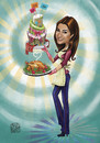 Cartoon: chef ghada (small) by Amal Samir tagged chef,cook,cartoon,woman,lady