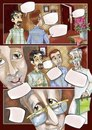 Cartoon: comic strip (small) by Amal Samir tagged magazine,kids,comic,strip,drawings,digital,old,man,home,story