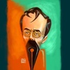 Cartoon: Ion Luca (small) by Amal Samir tagged drawings,painting,digital,cartoon,caricaturist