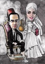 Cartoon: Wedding (small) by Amal Samir tagged love,wedding,marriage,man,woman,lady,groom,brid