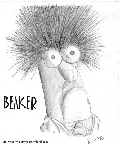 Cartoon: Beaker (medium) by Penguin_guy tagged muppet,show,muppets,beaker,dr,bunsen,honeydew,honig,bunsenbrenner,thomas,baehr,muppet show,muppets,beaker,puppe,puppentrick,jim henson,kermit der frosch,dr bunsen honeydew,bunsenbrenner,wissenschaftler,kindersendung,tv,fernsehen,nostalgie,retro,hommage,portrait,tribut,illustration,muppet,show,jim,henson,kermit,der,frosch,dr,bunsen,honeydew