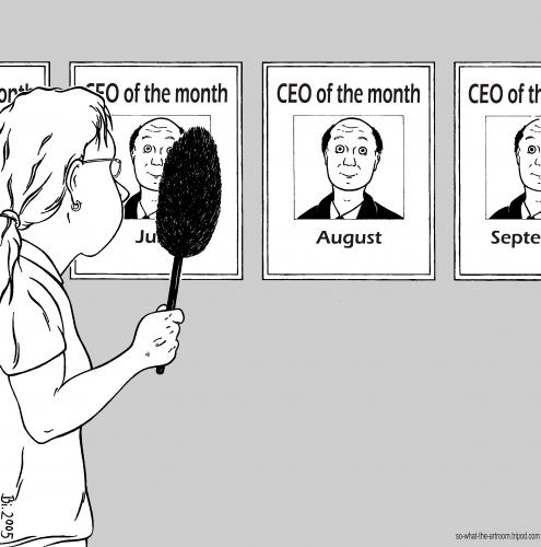 Cartoon: CEO of the month (medium) by Penguin_guy tagged baehr,thomas,geschaeftsfuehrer,ceo,cleaning,work,chef,buero,boss,office,ceo,büro,boss,arbeit,chef,alleiniger,geschäftsführer,auszeichnung,bilder,putzen,staubwedel,staubwischen,monat