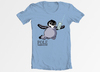 Cartoon: Nevermind Tribute Penguin Shirt (small) by Penguin_guy tagged pole,penguin,pinguin,nevermind,nirvana,thomas,baehr,comicstriptees,tshirt,emperor,chick