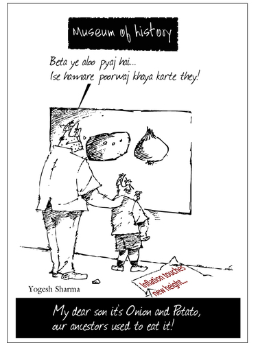 Cartoon: Inflation rate (medium) by yogesh-sharma tagged inflation,yogesh,sharma,india,social