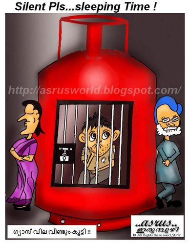 Cartoon: Gas cylinder prize hiked ! (medium) by asrus tagged cartoon,indian