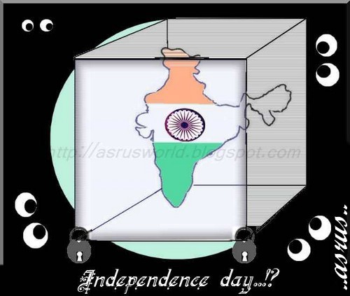 Cartoon: independence day..!? (medium) by asrus tagged independence