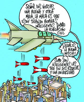 Cartoon: CRUDA REALIDAD (medium) by Mario Almaraz tagged avion,guerra
