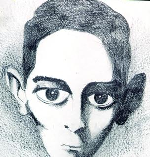 Cartoon: Un kafka (medium) by Mario Almaraz tagged rostro,kafka,