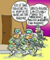 Cartoon: REPORTERO DE GUERRA (small) by Mario Almaraz tagged soldados