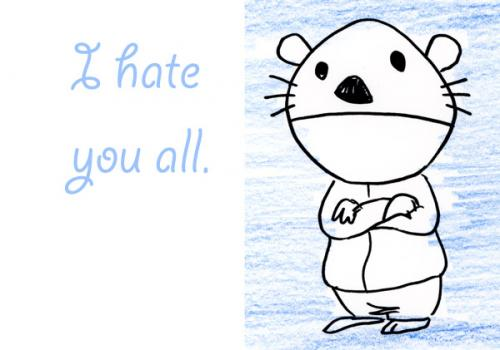 Cartoon: bear (medium) by dfreleng tagged bear,hate,cute,