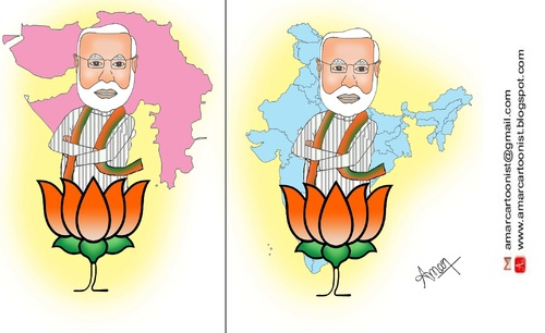 Cartoon: Narendra Modi Cartoon (medium) by Amar cartoonist tagged narendra,modi,amar,cartoon