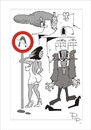 Cartoon: Traffic sign (small) by paraistvan tagged traffic,sign,woman,flustered