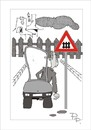 Cartoon: Traffic sign (small) by paraistvan tagged traffic,sign,difficulty,fence