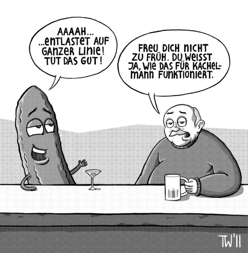 Cartoon: Freispruch (medium) by Tobias Wieland tagged bakterium,gesundheit,epedemie,verdacht,ursprung,sprosse,entwarnung,salat,interview,prozeß,prozess,kachelmann,gurke,krankheit,ehec,ehec,krankheit,gurke,kachelmann,prozess,prozeß,sprosse,entwarnung,salat,interview,ursprung,verdacht,gesundheit,epidemie,bakterium,epedemie