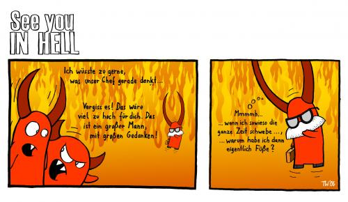 Cartoon: See you in hell (medium) by Tobias Wieland tagged see,you,in,hell,hölle,teufel,religion,fun,funny,humor,humour,