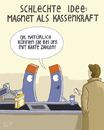 Cartoon: ... (small) by Tobias Wieland tagged magnet,kasse,supermarkt