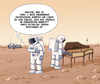 Cartoon: Marsmusik (small) by Tobias Wieland tagged mars nasa raumfahrt curiosity sonde weltraum all sonnensystem astronaut houston planet cembalo musik leben aliens klavier spinett esa