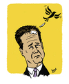 Cartoon: Nick Clegg (small) by Dom Richards tagged nick,clegg,caricature,liberal,democrat