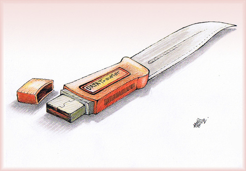 Cartoon: Flash memory Knife ... (medium) by kamil yavuz tagged kill,knife,flash,memory