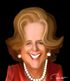 Cartoon: Margaret Thatcher (small) by semra akbulut tagged margaret,thatcher,semra,akbulut,iron,lady
