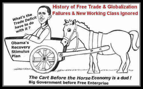 Cartoon: Cart before Horse global economy (medium) by ray-tapajna tagged economic,crisis,obama,roosevelt,derpression,recession