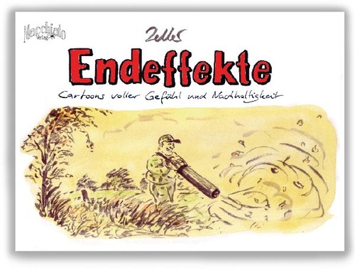 Cartoon: New Book by Bernd Zeller (medium) by Vanessa Oxygen tagged zeller,endeffekte