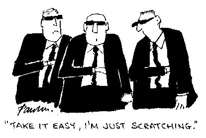 Cartoon: Just Scratching (medium) by Paulus tagged security,