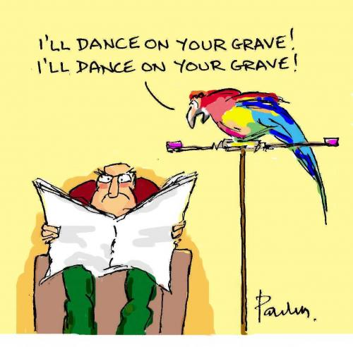 Cartoon: Parrot (medium) by Paulus tagged bird,marriage