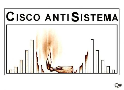 Cartoon: CISCO ANTISISTEMA (medium) by QUIM tagged antisistema,,illustration,anti,system,flasche,brennen,feuer,bombe,molotowcocktail,cocktail,zerstörung,zerstören,gesellschaft