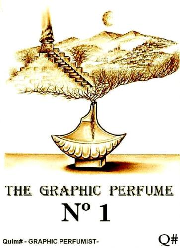 Cartoon: THE GRAPHIC PERFUME (medium) by QUIM tagged perfume,illustration,grafik,no1,landschaft,geruch,mode,duft,gras,frische,parfum,flasche